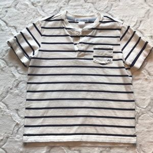 Janie and Jack striped short sleeve shirt